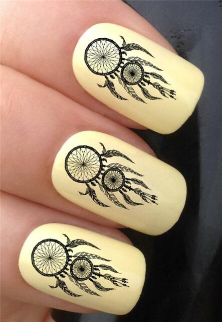 WATER NAIL TRANSFERS TRIBAL TATTOO INDIAN DREAMCATCHER DECALS STICKERS *361