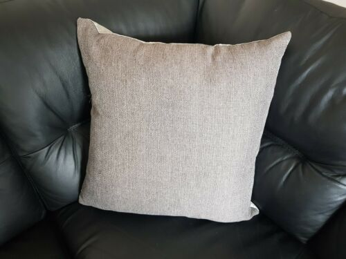 22 x 22 inch pewter and silver crushed velvet cushion cover.
