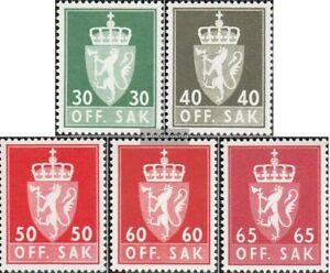 Norwegen-D86x-D90x-kompl-Ausg-postfrisch-1962-Staatswappen
