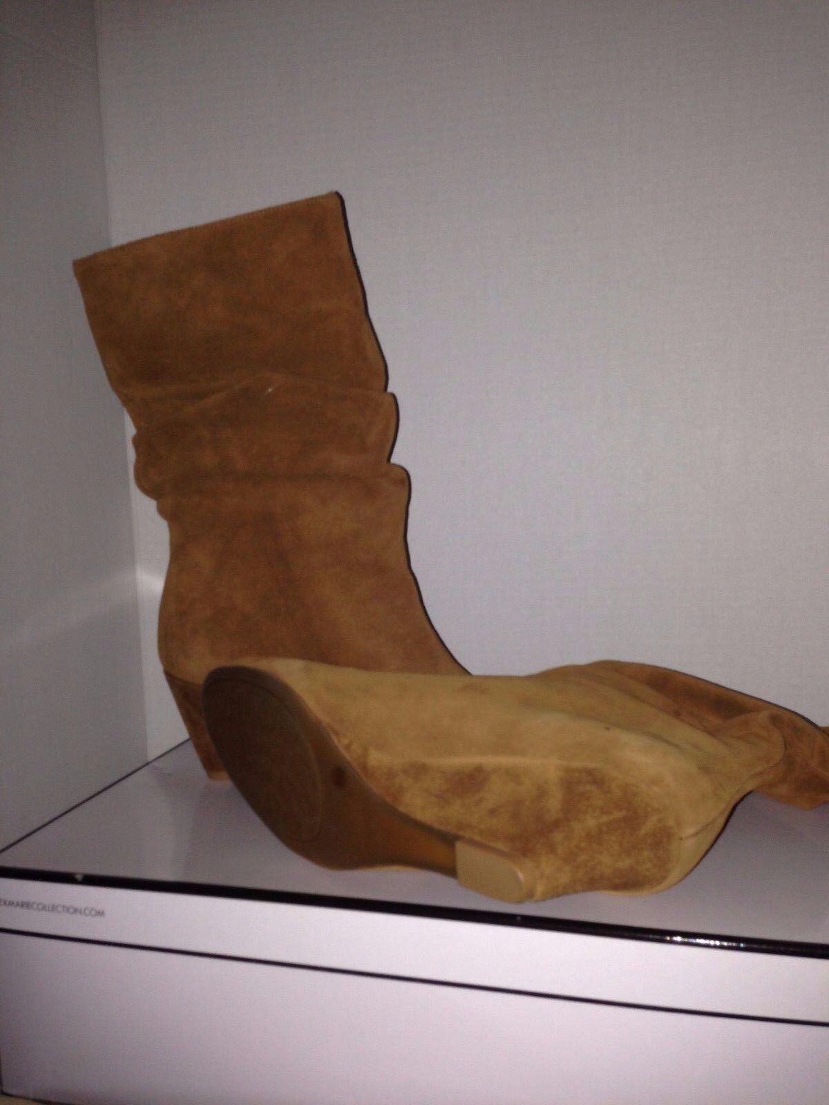 Alex Chestnut Marie Dana Wedge Chestnut Alex Braun Suede Stiefel 8.5 833034