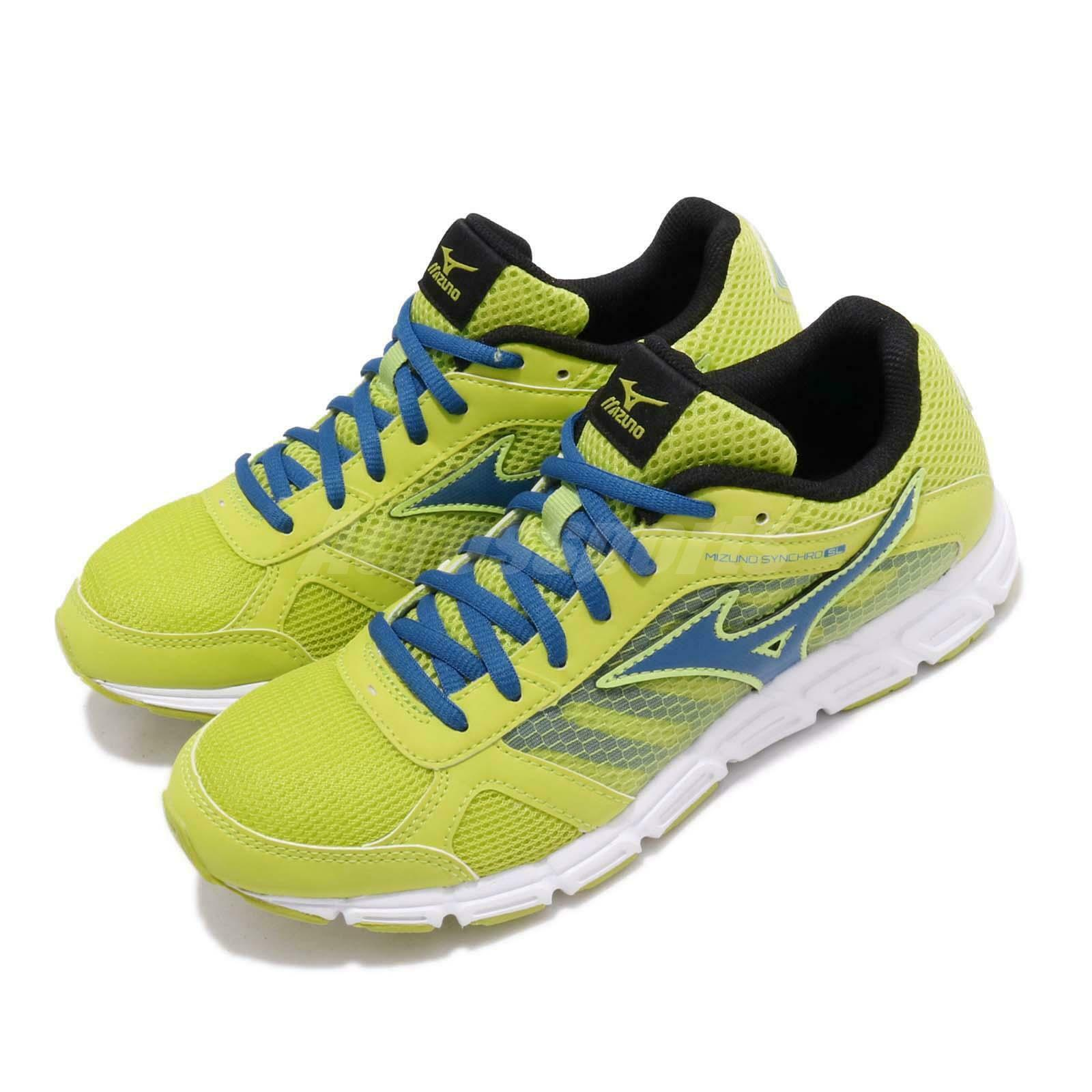 Mizuno Synchro SL amarillo verde azul blanco Men Running zapatos zapatillas J1GR1628-74