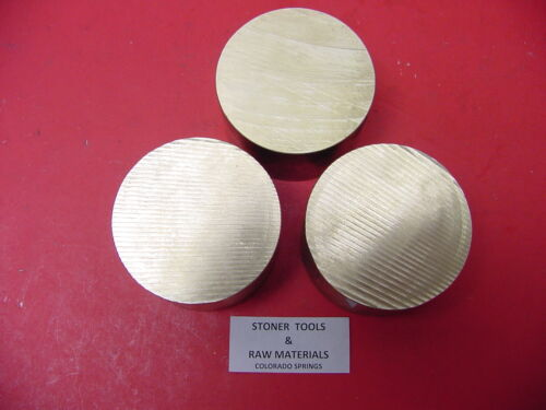 """3 Pieces 3/"""" C360 BRASS ROUND ROD .50/"""" long Solid 3.00/"""" OD H02 Lathe Bar Stock"""