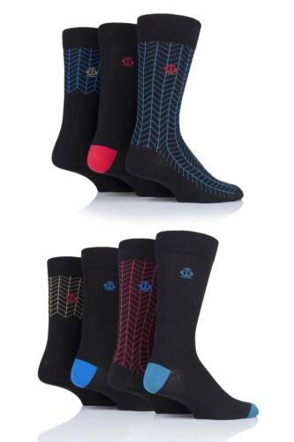 Mens 7 Pair Jeff Banks Ripon Plain and Contrast Cotton Socks