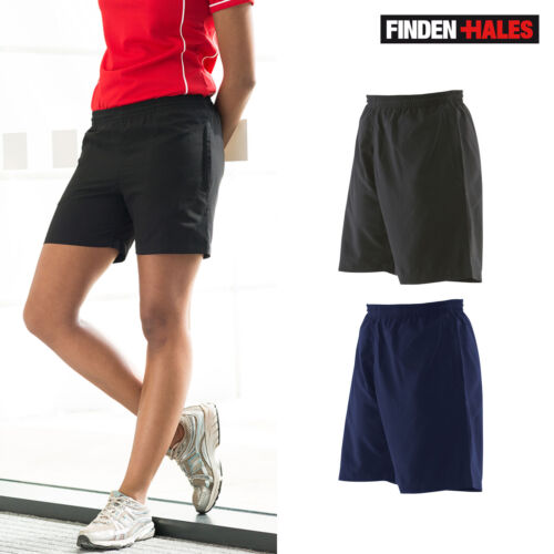 Finden /& Hales Ladies Microfibre Shorts LV831-Elasticated Waist Fitness Chinos