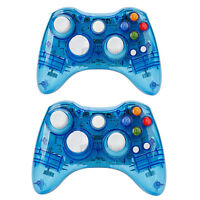 Wireless Controller Gamepad For Microsoft Xbox 360 Slim&pc Afterglow Blue