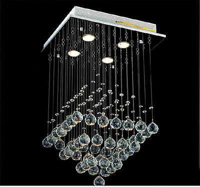 Modern Luxury Crystal Pyramid Pendant Lamp Ceiling Light Lighting Rain Drop
