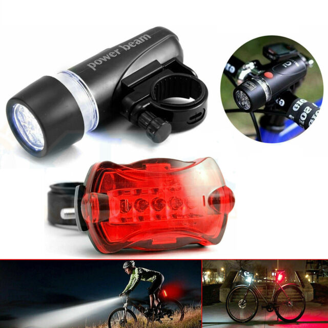 LED Headlight Bike Bicycle Mountain Cycle MTB Front Rear Tail Lights Kit Bright