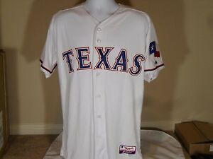 half off 460fd 01ac5 Details about New Majestic Cool Base Authentic Texas Rangers White Home  Baseball Jersey Flag