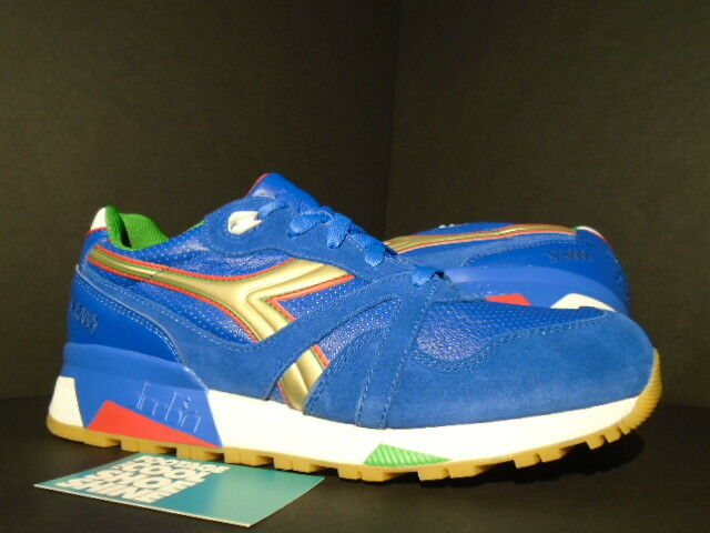 2015 DIADORA N9000 PACKER SHOES AZZURRI OLYMPIAN BLUE WHITE GOLD GREEN NEW 9