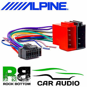 alpine cde 101rm car radio stereo 16 pin wiring harness loom iso rh ebay ie kenwood 16 pin wiring harness diagram pioneer 16 pin wiring harness diagram