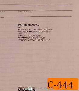 Cincinnati-Milacron-10H-amp-10HC-CNC-Controls-Machining-Center-Parts-Manual-1979