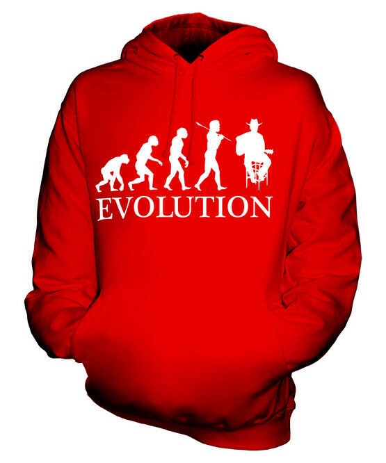 COUNTRY SINGER EVOLUTION OF MAN UNISEX HOODIE  Herren Damenschuhe LADIES GIFT WESTERN