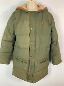 I-MASCHI-JOULES-Cachi-Verde-Cappotto-imbottito-INVERNO-pioggia-con-cappuccio-bambini-eta-11-12-anni