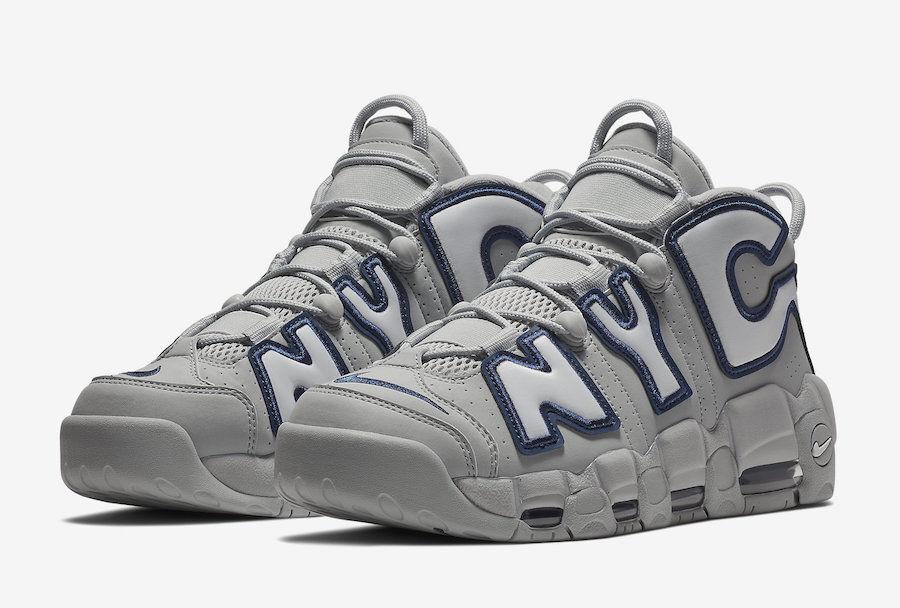 Nike air mehr uptempo nyc - wolf grau - weiß mitternacht marine größe 12 aj3137 001