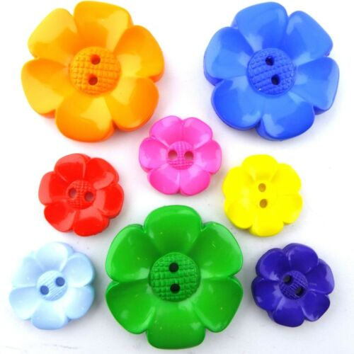 16 COLOUR Extra Large Jumbo Daisy Flower Buttons 60mm Jumbo Big Clown BUY 2 4 8
