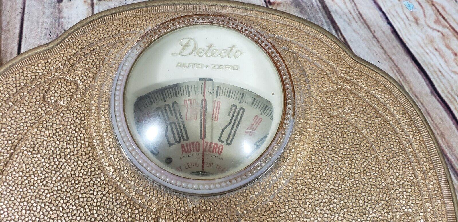Vintage Detecto Floral Metal Bathroom Scale 60s Style