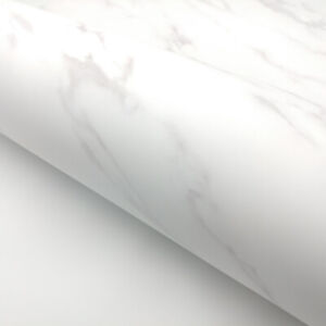 Details About Marble Paper Granite Matte White Self Adhesive Film Peel Stick Wallpaper