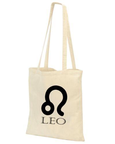 Bolso natural símbolos astrológicos impresa con tinta a base de agua Zodiac bolso