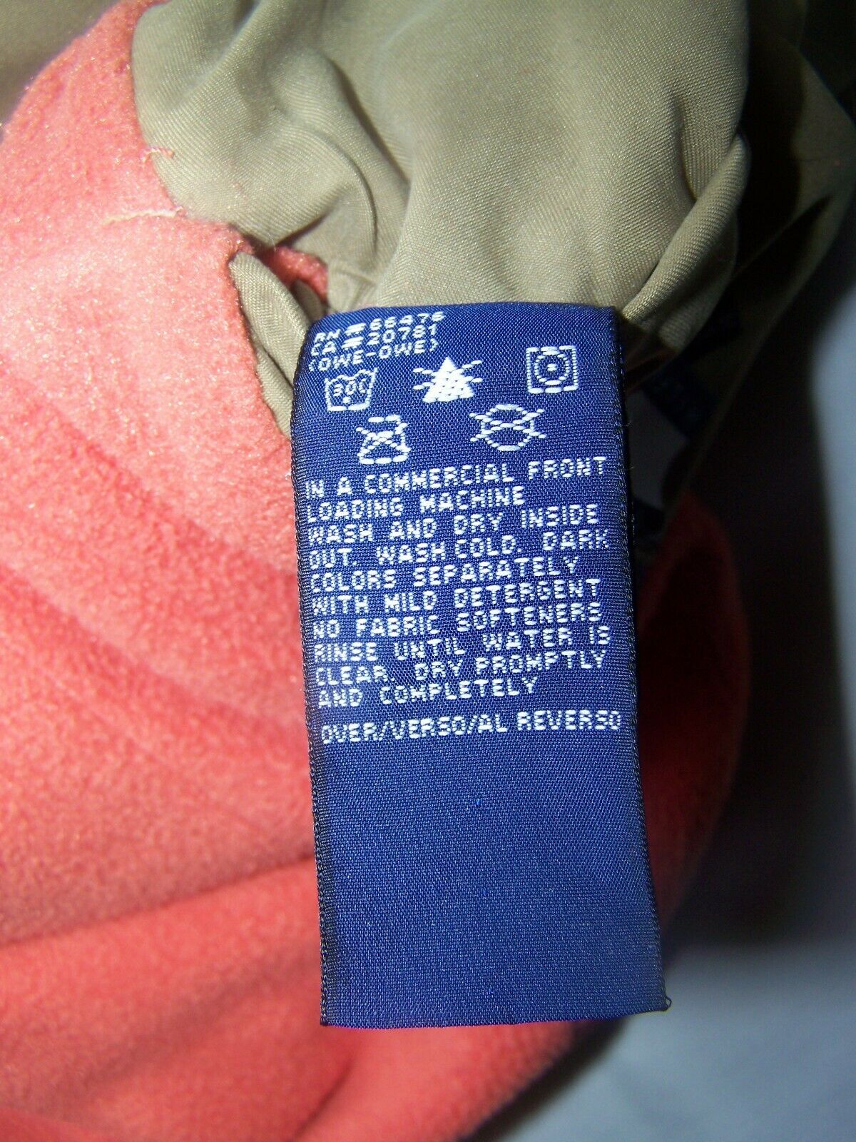 Tommy Hilfiger Vest Reversible Large Orange - image 9