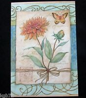 Leanin Tree Get Well Greeting Card Flowers Glitter Multi Color R123