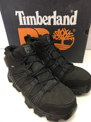 Timberland PRO Work Boots Black Powertrain Guard Alloy Safety Toe Shoes NEW D