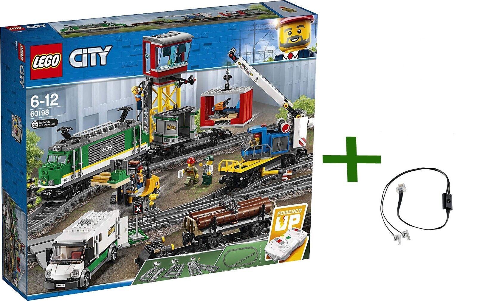 Lego City 60198  Freight Train Libre lumière Led 88005 RC voitureGO TRAIN de marchandises  loisir