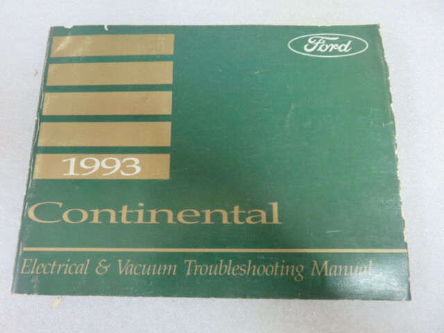1993 Lincoln Continental Service Repair Manual Electrical