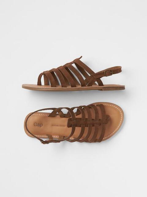 Brown / Beige Gladiator Sandals Shoes