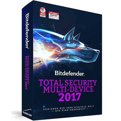 Bitdefender Total Security Multi Device 2017 - 5 Geräte | 1 Jahr (Download)