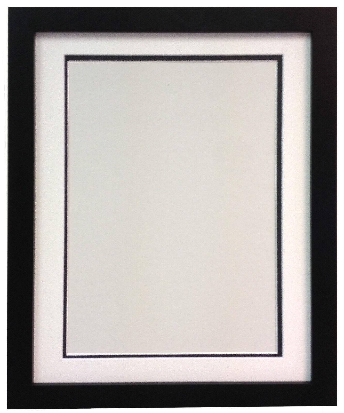 Cuadro Cuadro Cuadro Negro Marcos de fotos con calidad blancoo Negro o Marfil Montajes De Bisel doble 29e637