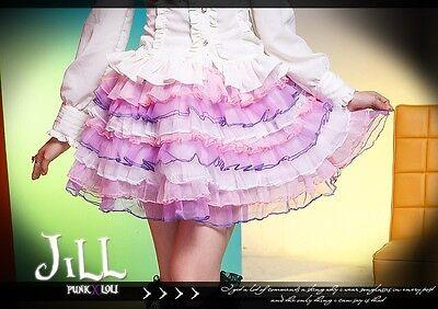 Lolita fantasy party spank jelly Pop carnival tiered petticoat skirt FA235 PN