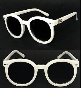 1444a33bb0497 New Retro Round Shape Oval DG Womens Sunglasses - White DG173   eBay