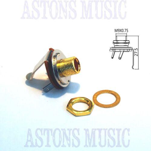 GOLD colour Cigar Box Guitar Part Parts Mono Guitar Output Jack