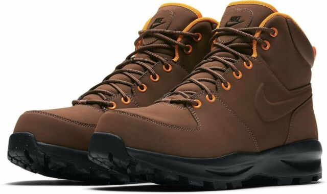 Nike Mens Manoa Leather Hiking Boot Fauna Brown Outdoor Shoe 454350203 Size  10.5