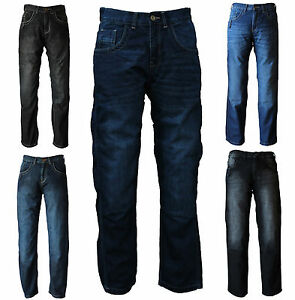 Motorcycle-Jeans-Motorbike-Trousers-Men-039-s-UB-Denim-with-Protective-Lining
