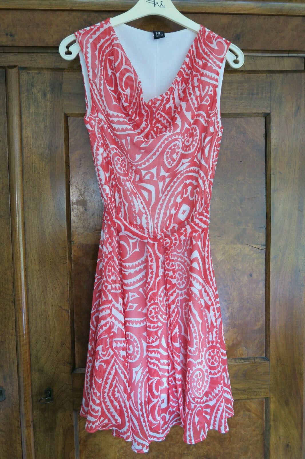 Damen Kleid B.C. Best Connections Leichtes Sommerkleid rot weiss weiss weiss Gr. 36 6958bc