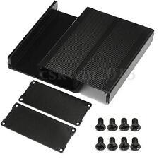 Black Split Body Aluminum Box Enclosure Case Project Electronic DIY 120x97x40mm