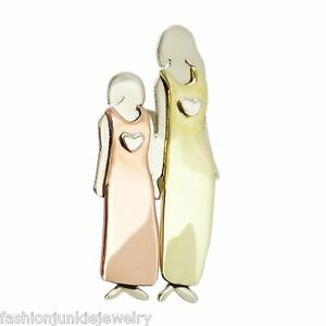 Mima-amp-Oly-Mother-and-Daughter-PIN-Family-Big-Sister-Little-Sister-Brooch-NEW