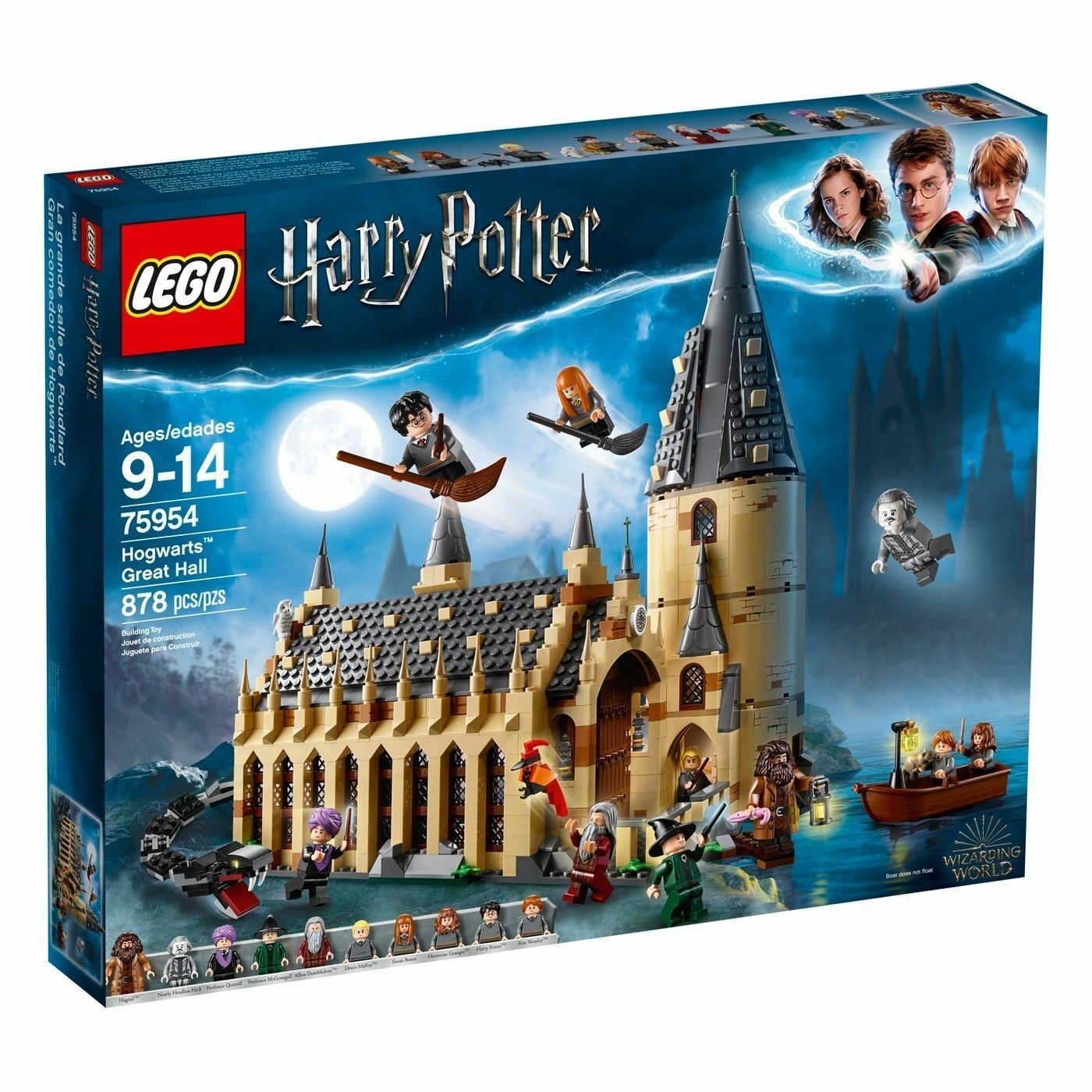 LEGO Harry Potter Hogwarts Great Hall 75954 75954 75954 Wizarding World 2018 878 pieces efad31
