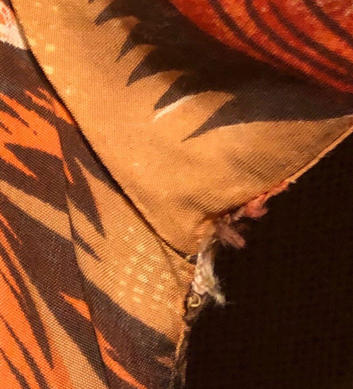 Vintage 1960's Aloha Light Orange Palm Trees Rayo… - image 7