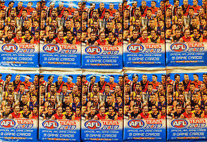 10-x-2019-AFL-TEAMCOACH-FOOTY-PACKS-90-TRADING-CARDS-TEAM-COACH-PICKED-RANDOMLY
