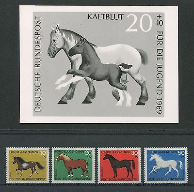 GroßZüGig Brd Foto-essay 578/581 Pferde 1969 Entwurf Photo-essay Proof Horse Rare!! E352 Niedriger Preis
