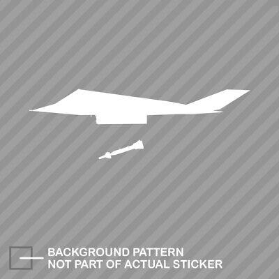 4 x F-117 Nighthawk Stealth Sticker Window Vinyl Decal Pilot Fly Aircraft Jet
