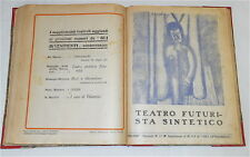 TEATRO 1/14 1915-16 rivista suppl. Avvenimenti - TEATRO FUTURISTA SINTETICO