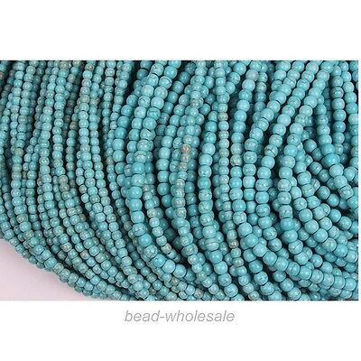 50 Pcs/100 Pcs Loose Turquoise Charm Spacer Beads Jewelry Finding,4mm/6mm
