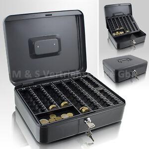 30cm-dunkelgrau-Geldkassette-Muenzkassette-Zaehlkassette-Kasse-Muenzzaehlbrett