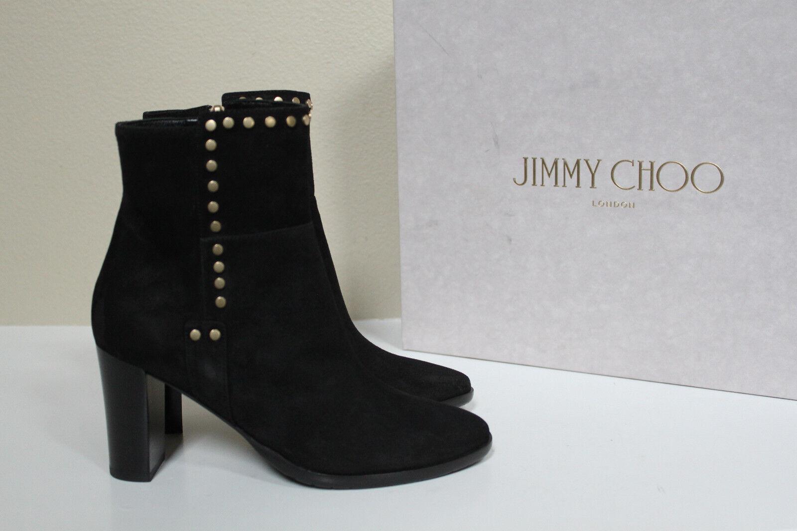 100% nuovo di zecca con qualità originale New sz 6   36 Jimmy Choo nero Suede Suede Suede Harlow Studded Ankle avvioie Block Heel Shoe  fabbrica diretta