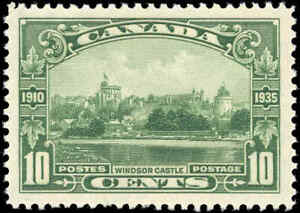 1935-Mint-NH-VF-Canada-Scott-215-10c-King-George-V-Issue-Stamp