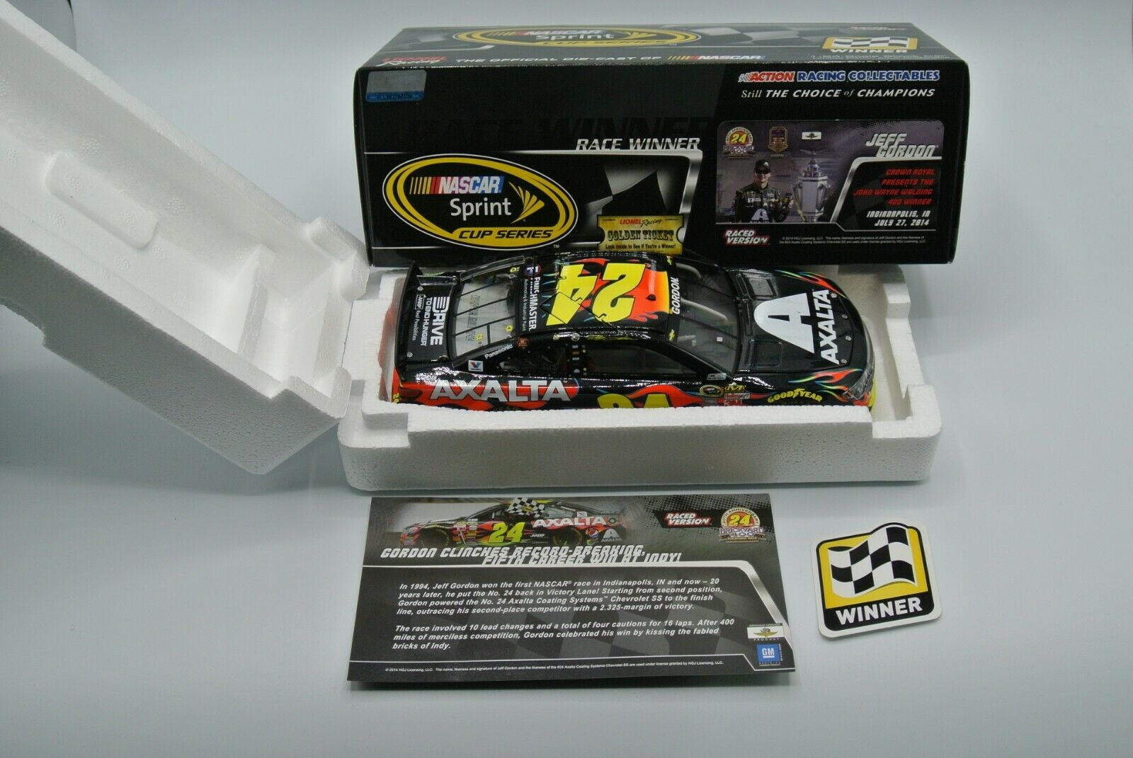 ACTION Jeff Gordon 24 Axalta Indy Win 1 24 Scale 2014 Chevrolet SS 1 of 2641