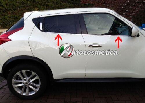 Strisce cromate sotto finestrini Nissan Juke 2014-2018 cromati cornici acciaio
